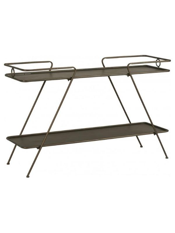 console-trapeze-metal-noir-decoration-vintage