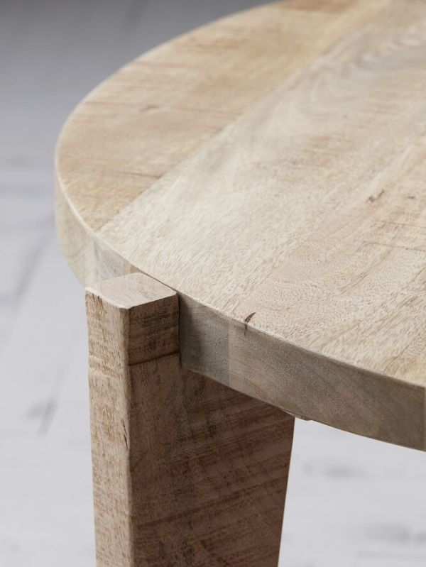 Table Basse Bali Bois de Manguier Naturel - 80 cm