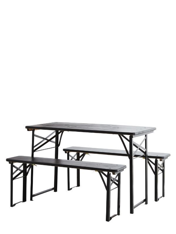 Table Pliable et ses 2 Bancs - 160 cm