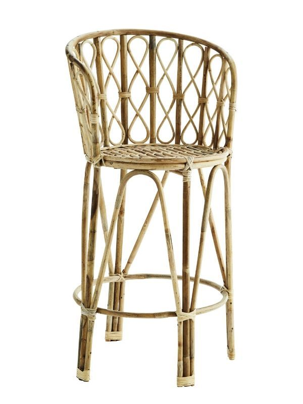 Tabouret de Bar Bambou Naturel Madam Stoltz - 115 cm