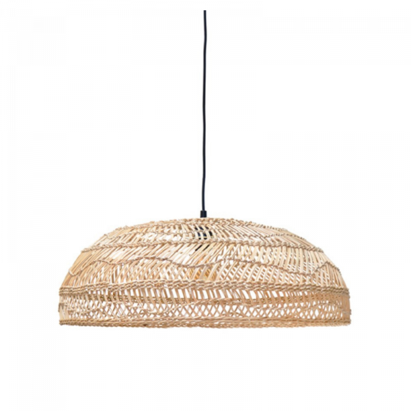 Suspension en Osier Naturel Plate - 60 cm