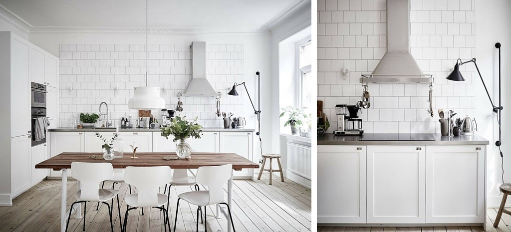Blog d co nordique un appartement black white stockholm - Cuisine style nordique ...